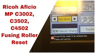 How to reset error code SC-329 on Ricoh Aficio 2035, 3025, 3035