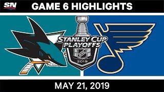 NHL Highlights | Sharks vs. Blues, Game 6 – May 21, 2019