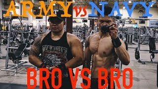 BRO VS BRO | NAVY VS ARMY | LIFT-OFF EP.1 - BENCH PRESS