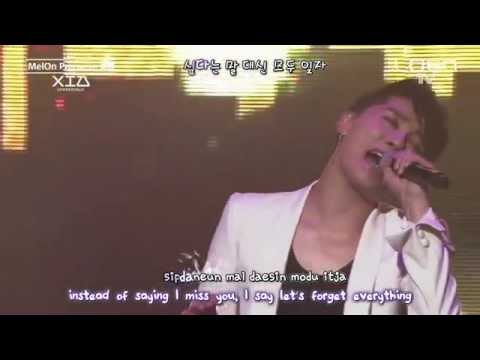 Xia Junsu 김준수 - Sorry 미안 live [eng + rom + hangul + karaoke sub]
