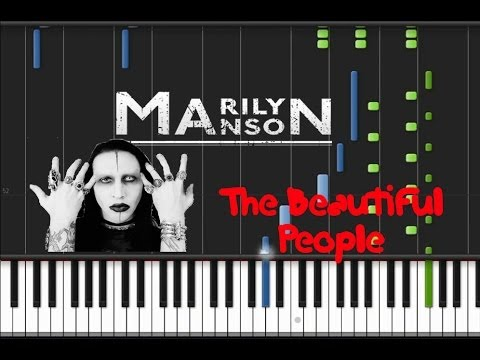 Marilyn Manson - The Beautiful People [Piano Tutorial] (♫)