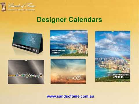 Custom Made Calendars at Sands of Time
