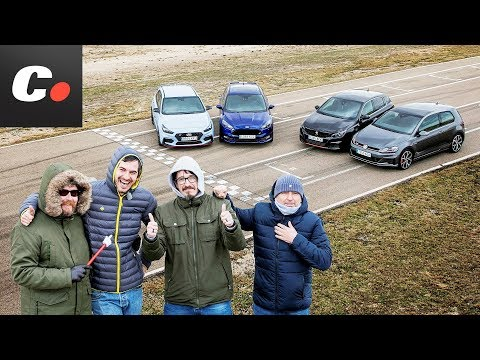 Hyundai i30 N, Peugeot 308 GTi, VW Golf GTI, Ford Focus ST | Prueba Comparativa 2018 | coches.net