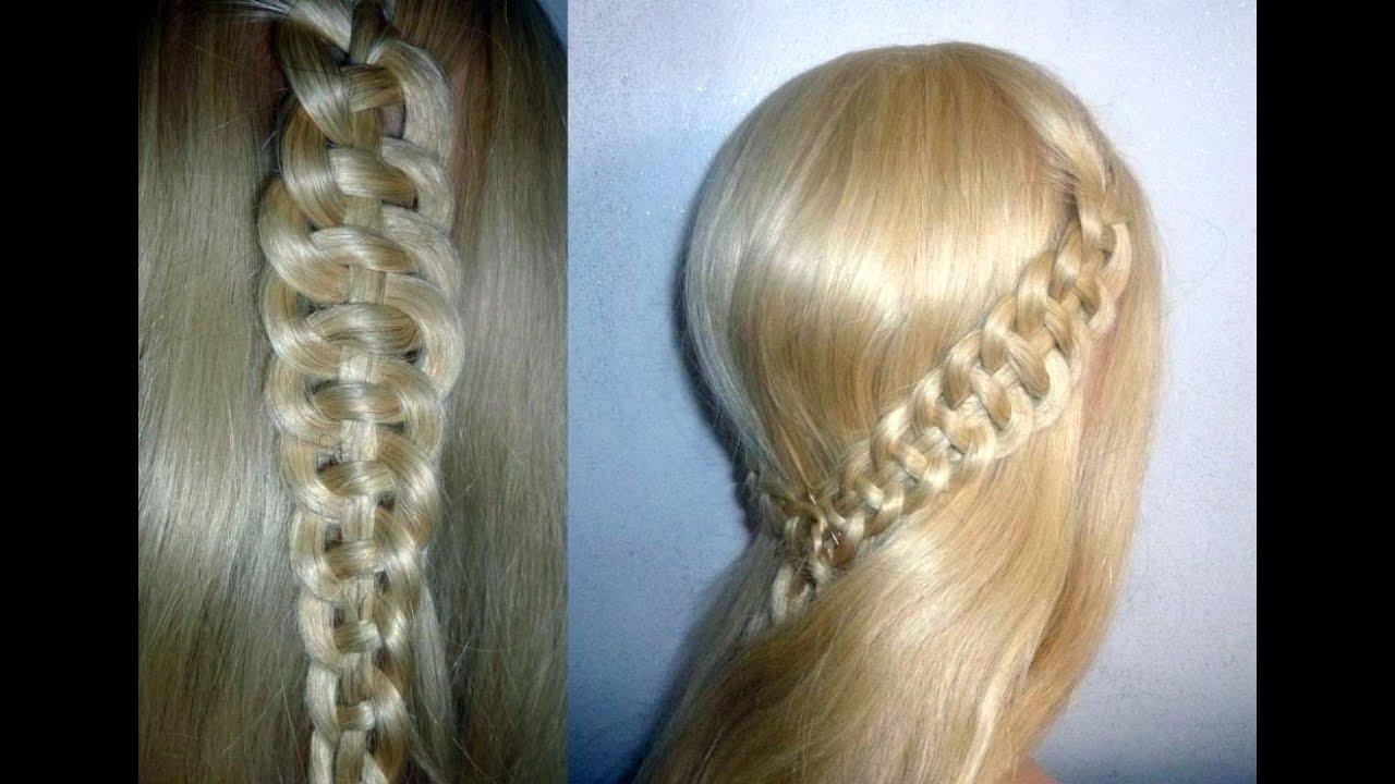 4 str hnen zopf flechten flechtfrisuren braid with 4 strands hairstyle peinados youtube. Black Bedroom Furniture Sets. Home Design Ideas