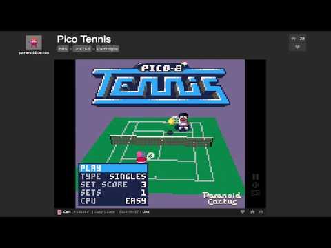 PICO TENNIS on Pico-8 by paranoidcactus