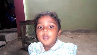 Two year old baby is saying abcd and singing yesappa yesappa song