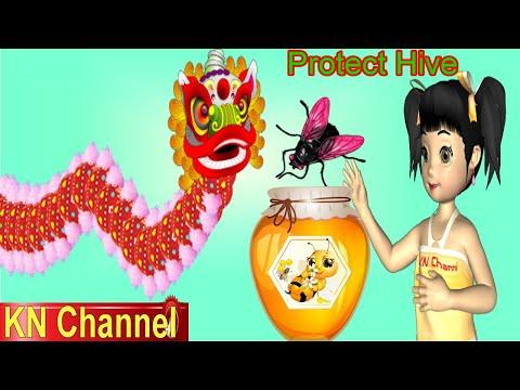 MÚA LÂN BẢO VỆ TỔ ONG | CHO CON LÂN ĂN CÔN TRÙNG | TRÒ CHƠI VUI NHỘN PROTECT HIVE KN Channel