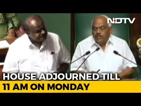 No Karnataka Trust Vote Today As Speaker Adjourns Assembly Till Monday