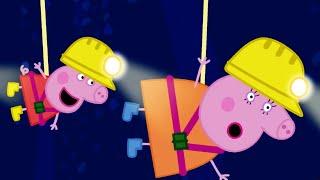 Peppa Pig Full Episodes   Caves   Cartoons for Children
