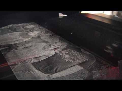 AP Lazer: Watch us Engrave Granite