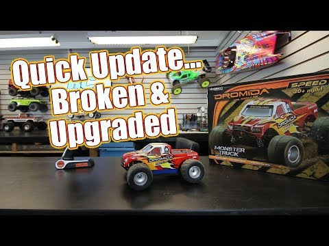 Dromida Brushless Monster Truck Quick Update - It Broke & Option Parts Installed (2018) | RC Driver
