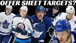 NHL RFA Offer Sheets 2019 - Top 10 Teams + Top Players
