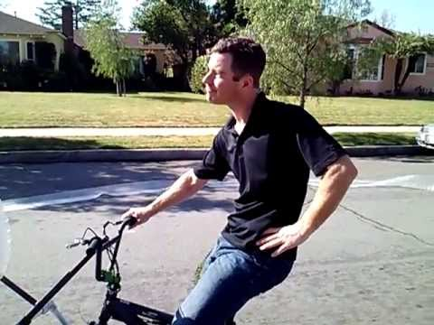 """Bubble Wrap Bike"" - Eric Buss, Burbank, California - Eric Buss shows off his creation, the Bubble Wrap Bike. The video became ""pop""ular this year, amassing over 1.5 million views."