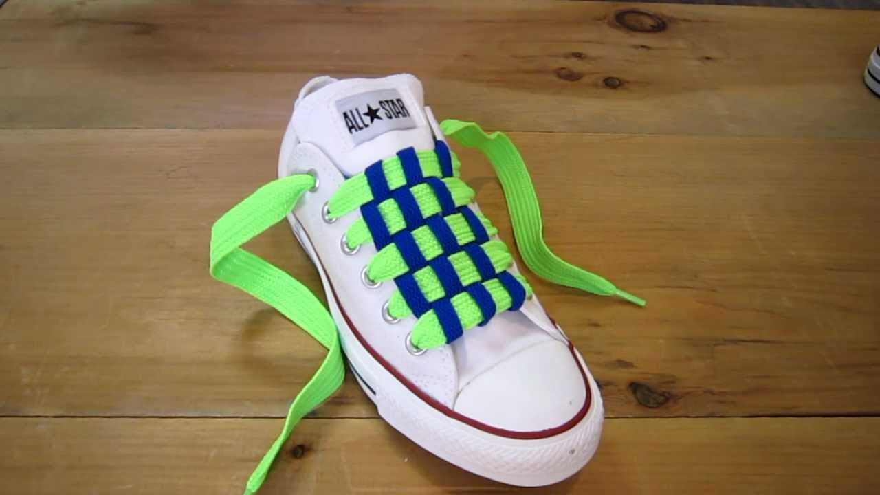 How To Checkerboard Lace Your Shoes Step By Step
