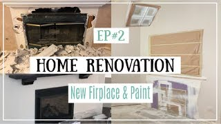 Fireplace Makeover & New Paint | Home Renovation Episode #2 | Momma From Scratch