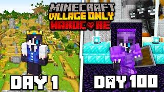 I Survived 100 Days in MODDED VILLAGE ONLY Minecraft Hardcore World...