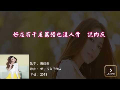 田馥甄 - 愛了很久的朋友 (歌詞)