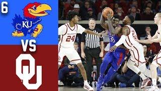 2020 College Basketball #6 Kansas vs Oklahoma Highlights