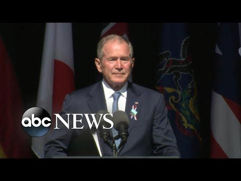 Former President George W. Bush speaks at 9/11 memorial ceremony