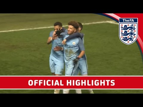 Man City 6-0 Stoke - 2016/17 FA Youth Cup semi-final First Leg   Official Highlights