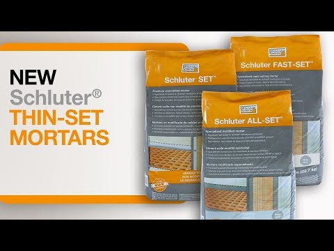 NEW! Schluter® Thin-set Mortars!