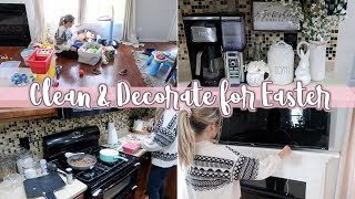 CLEAN & DECORATE WITH ME FOR EASTER 2019 | CLEANING MOTIVATION & EASTER DECOR | Lauren Midgley