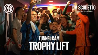TUNNEL CAM | EXCLUSIVE BEHIND THE SCENES OF INTER'S TROPHY LIFT! 🏆😂😜🖤💙 #IMScudetto