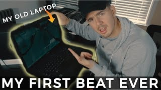 MY FIRST BEAT EVER!! (Found My Old Laptop) *horrible* | Making a Beat