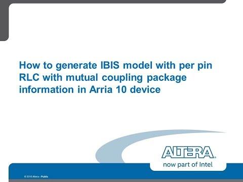 IBIS model with mutual RLC coupling