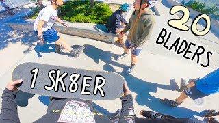 Skatepark Mobbed By Rollerskaters