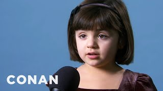 Our Staff's Kids Say The Darndest Things 12/7/10  - CONAN on TBS