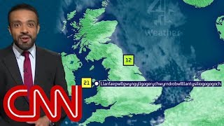 Weatherman nails town's super long name