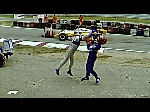 Piquet Rages After Salazar Shunt | 1982 German Grand Prix