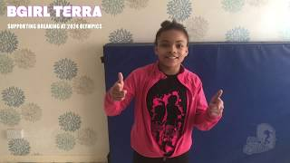 Bgirl Terra Supporting Breaking at the Olympics 2024