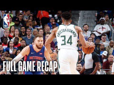 BUCKS vs PISTONS | Milwaukee Advances Behind Giannis? BIG Night! | Game 4