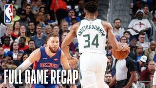 BUCKS vs PISTONS | Milwaukee Advances Behind Giannis' BIG Night! | Game 4