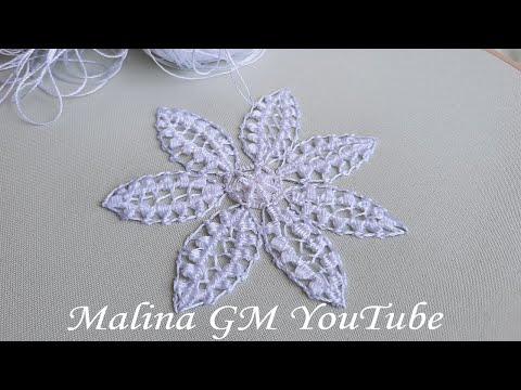 White Lace Flower    lace filling stitches   Romanian lace   white work