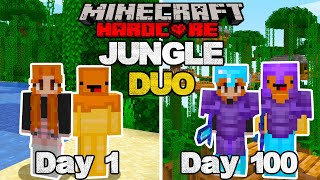We Survived 100 Days Of HARDCORE Minecraft In A JUNGLE ONLY World As A DUO... Here's What Happened