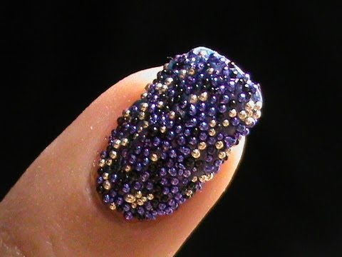 Caviar nails diy how to do caviar nail art at home with - Easy nail polish designs to do at home ...