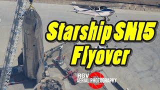 SpaceX Boca Chica & Starship SN15 Flyover April 08, 2021