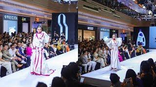 Mâu Thủy liên tục biến hóa trên sàn catwalk 'Top Model Online'