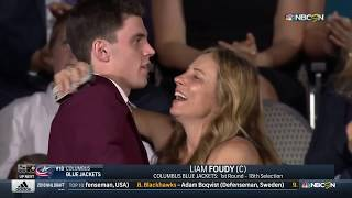 Blue Jackets Select Liam Foudy 18th Overall (2018 NHL Draft) (NBC)