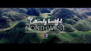 Extremely beautiful scenery of Northwest Vietnam - view from sky