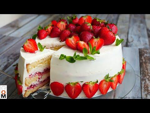 Торт «КЛУБНИЧНЫЙ РАЙ» Приготовьте обязательно!!!   Strawberry Cake