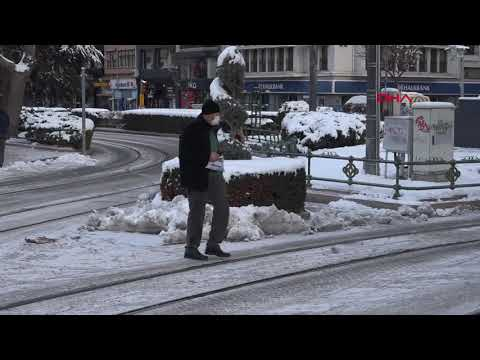 Eskişehir'de hava sıcaklığı sıfırın altında 7 dereceye düştü