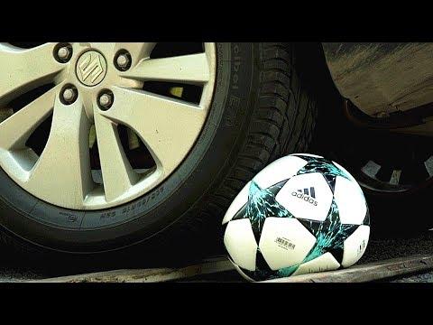 比一比17-18赛季欧冠用球高低端的区别,汽车碾压后会怎样?