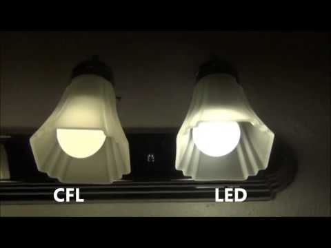 CFL vs LED side by side comparison