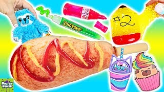 SQUISHY School Haul! World's BIGGEST Corn Dog Pencil Case! Doctor Squish