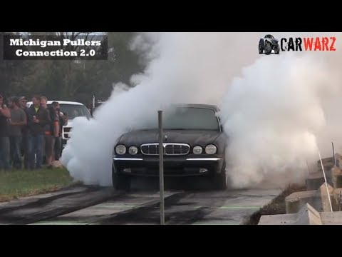 Black Jaguar  Huge 1 Wheel Burnout At WMP In Kent City Michigan 2018