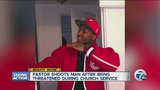 Pastor questioned after shooting, killing man at church